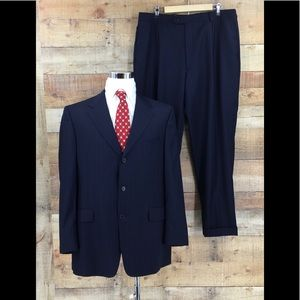 Daniel Cremieux Mens Suit Loro Piana Stripe Suit